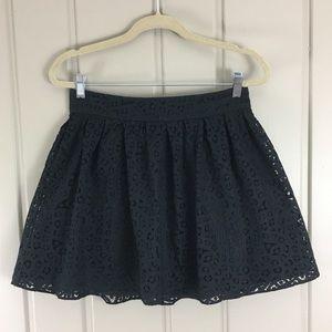 Lacy black skater dress